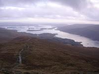 Looking down towards Loch Lomond