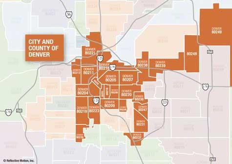 Denver Zipcode Map | GOOGLESAND