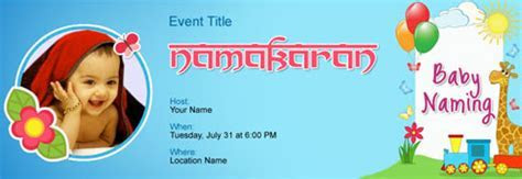Free Baby Naming / Namakaran invitation with India?s #1