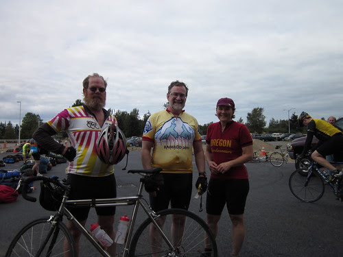 Leo, Ross and me at the finish