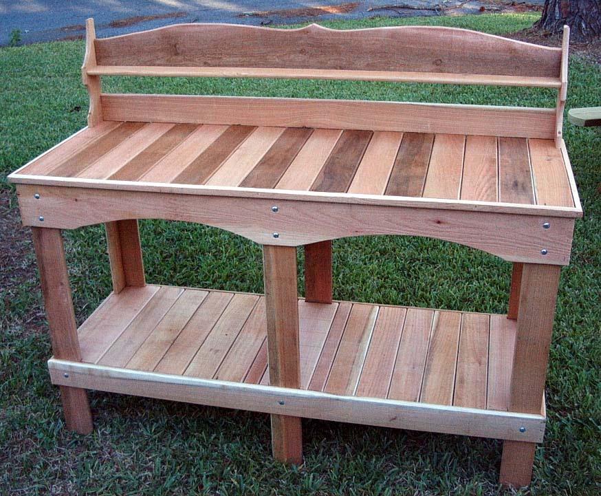 Information Potting shed bench plans