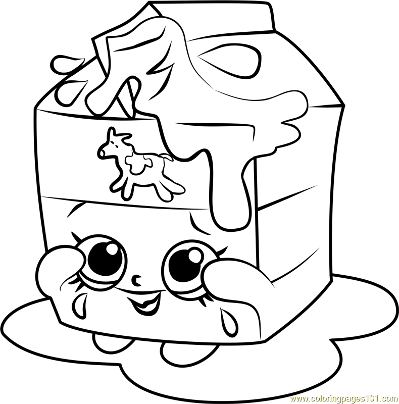 Spilt Milk Shopkins Coloring Pages - Coloring And Drawing