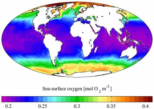 Oxigeno superficie marina