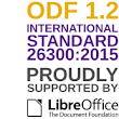 Open Document Format (ODF) 1.2 published as International Standard 26300:2015 by ISO/IEC
