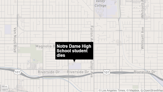 Notre Dame High School basketball player dies after collapsing during practice