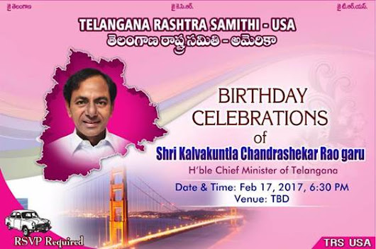 CM KCR's Birthday Celebrations in Bay Area, California | Mission Telangana