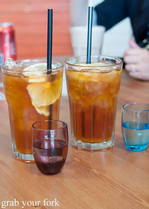 black iced tea at pearl's diner, felixstowe, adelaide