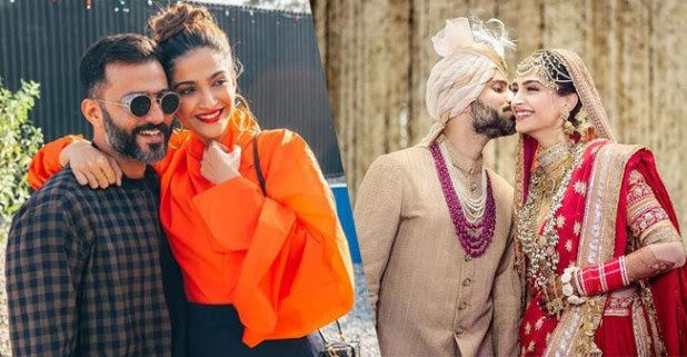 Unseen Pictures of Sonam Kapoor and Anand Ahuja on their First Wedding Anniversary, Showers of Blessing by Family Members