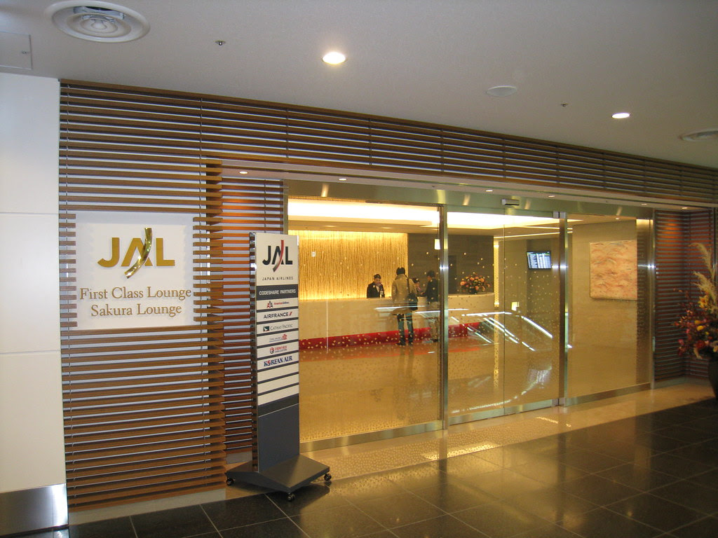 Japan Airlines (JAL) lounge at Tokyo Haneda International Terminal