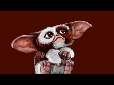 Gizmo, Gremlins, time lapse digital painting