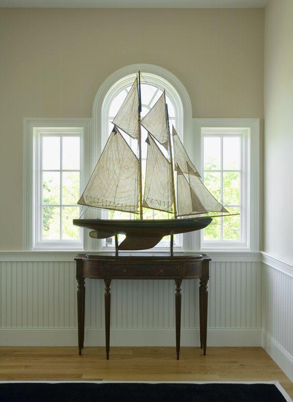 Coastal- 2nd Floor Hall large sailboat