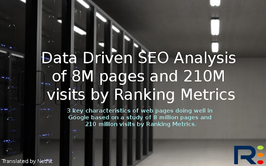Data Driven SEO Analysis of 8M pages and 210M visits by Ranking Metrics - Nethit