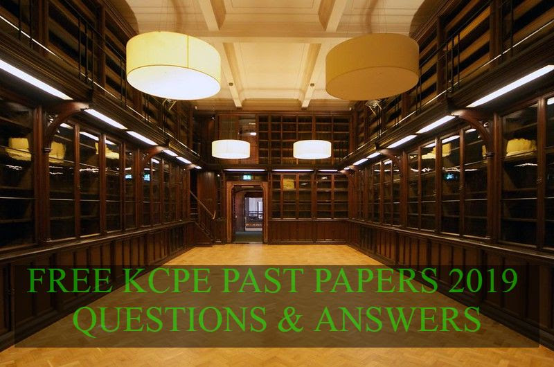 FREE KCPE PAST PAPERS AND ANSWER - Atika School
