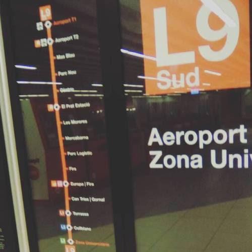 Linea 9 sud Metro de #Barcelona, #siseguridad #segurpricat #YouTube #Metropolitano (en UPC Escola Tècnica Superior d'Arquitectura de Barcelona)