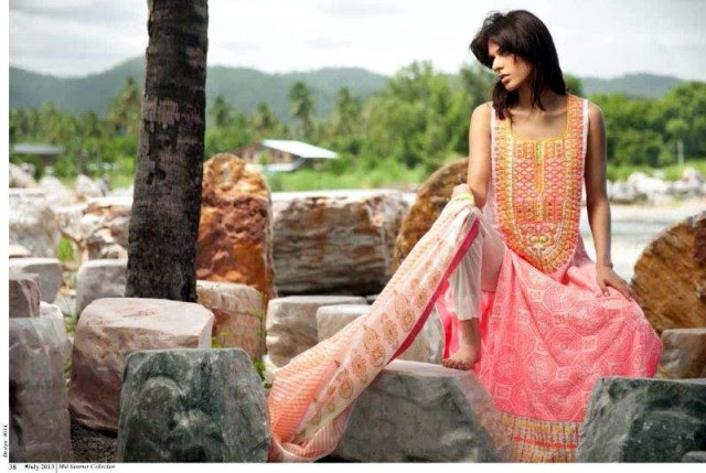 Beautiful-Cute-Girls-Models-Wear-Summer-Eid-Dress-Collection-2013-Lakhani-Silk-Mills-1