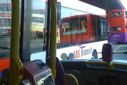 At a bus interchange
