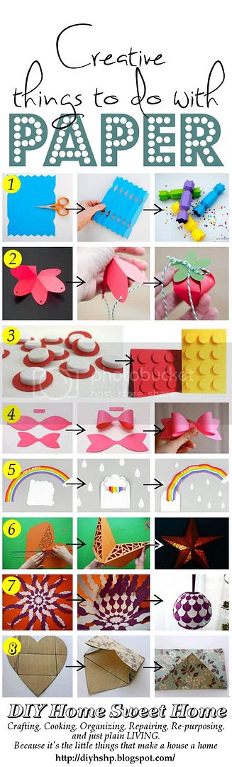 Diy home sweet home creative things to make from paper for Things to make with paper