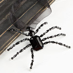 Acrylic Beaded Spider, 6 1/4'' long x 5'' wide, Black, Halloween Crafts, Craft Supplies