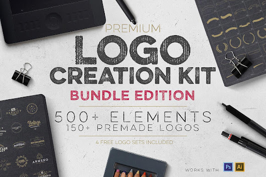 Professional Logo Creation Kit Bundle with 500+ Elements - only $14!