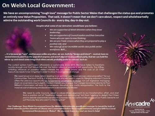 Tough Love message to Welsh Councils: It is time to put the interests of your Citizens and Communities First!