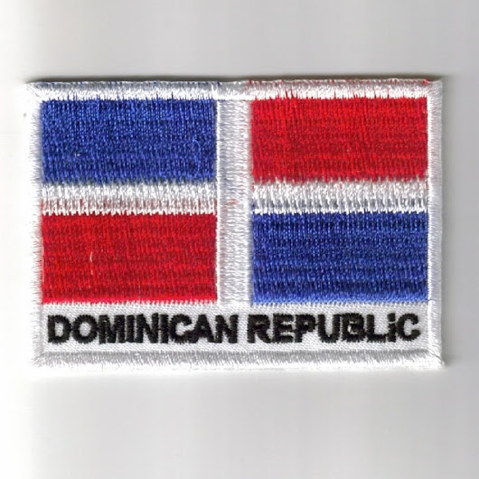 Dominican-Republic embroidered patches - country flag Dominican-Republic patches / iron on badges