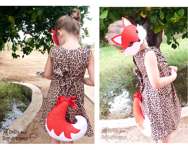 Fox Mask & Tail Set Dress Up Childrens play woodland  copy