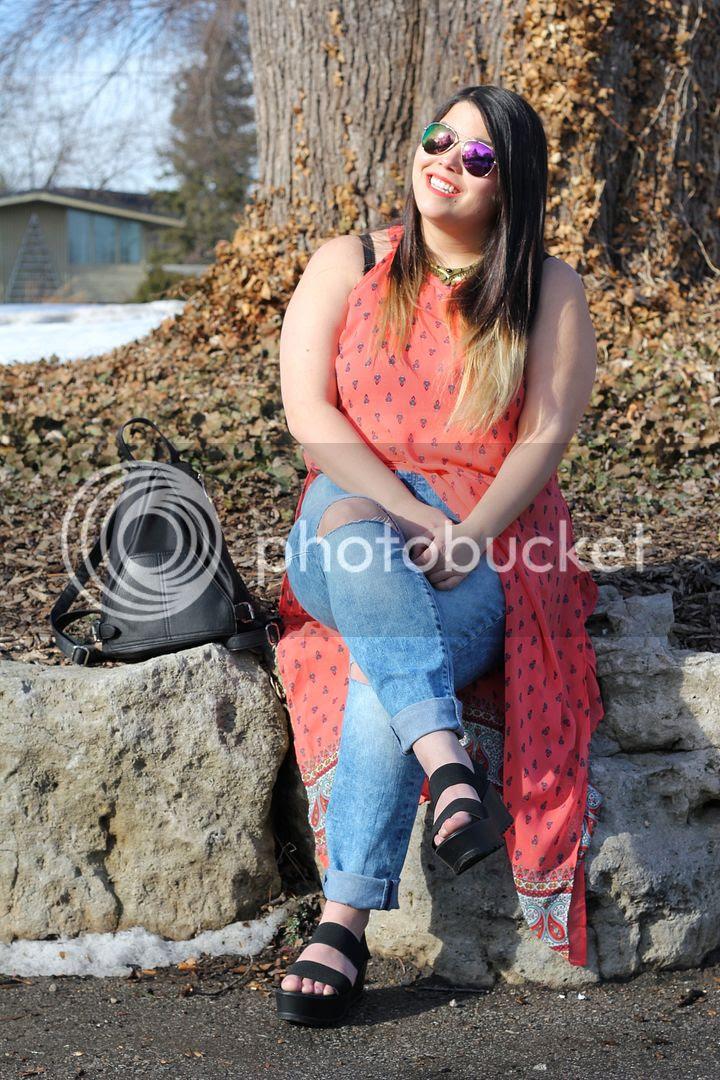 Charlotte Russe+ Plus plus size review fashion canada toronto fat fashion plus size maxi tank top plus ripped jeans boho