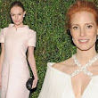 Jessica Chastain gets it wrong in daring cleavage-baring dress... as Kate Bosworth looks chic covered up at Chanel party