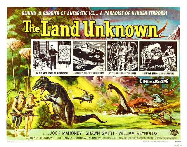 Reynold Brown - The Land Unknown (Universal International, 1957) Half Sheet 2