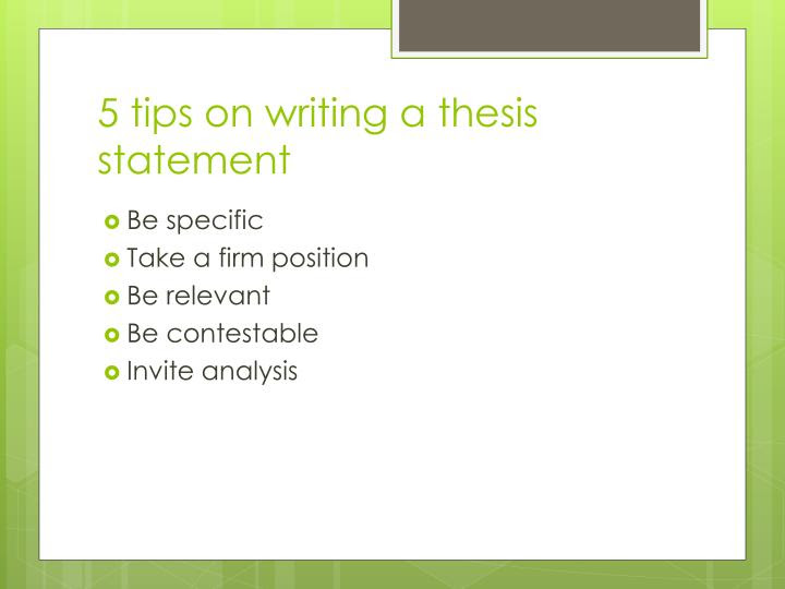 writing a thesis statement ppt