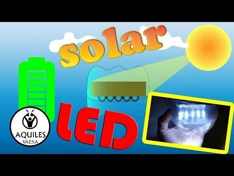 Cómo armar una lámpara LED de encendido automático, recargable con panel solar