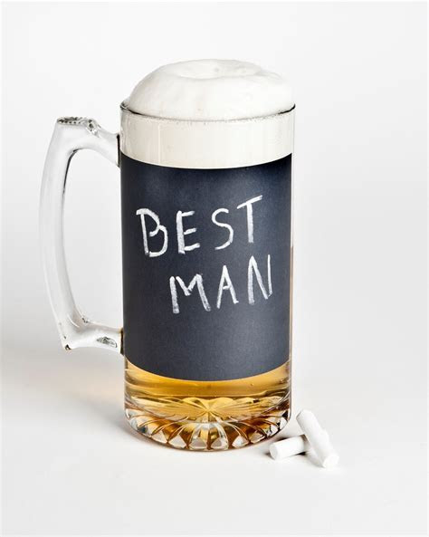 best man wedding gifts beer mug chalkboard   OneWed.com