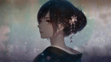 digital art anime girls yukata wallpapers hd desktop