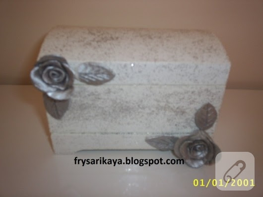 Seramik Güllü Sandık Ahşap Boyama 10marifetorg
