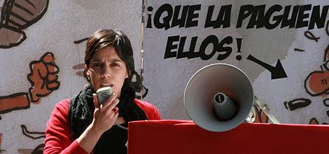 Esther Vivas durante una rueda de prensa.