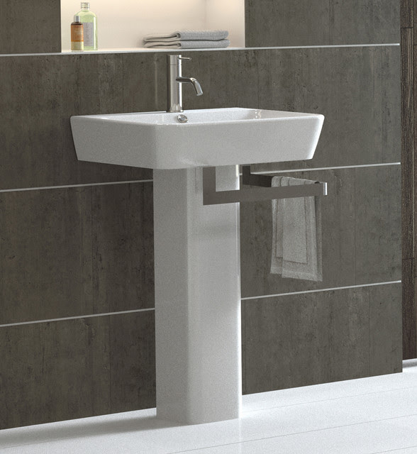 Emma Pedestal Sink - modern - bathroom sinks - - by Bissonnet