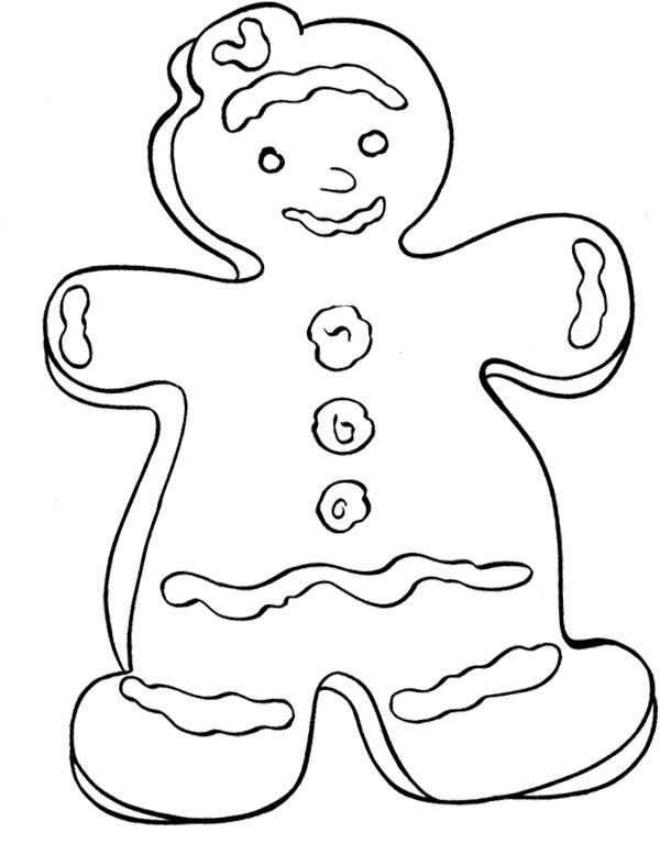 Christmas Cookies Coloring Page | Christmas crafts and ...