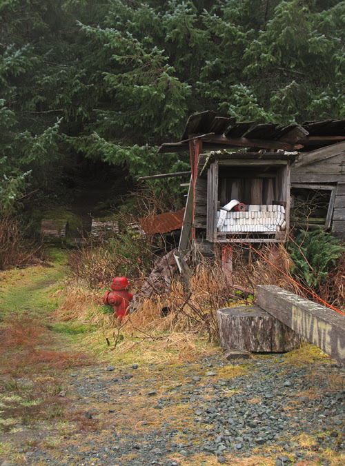 fire hydrant and hose, Kasaan, Alaska