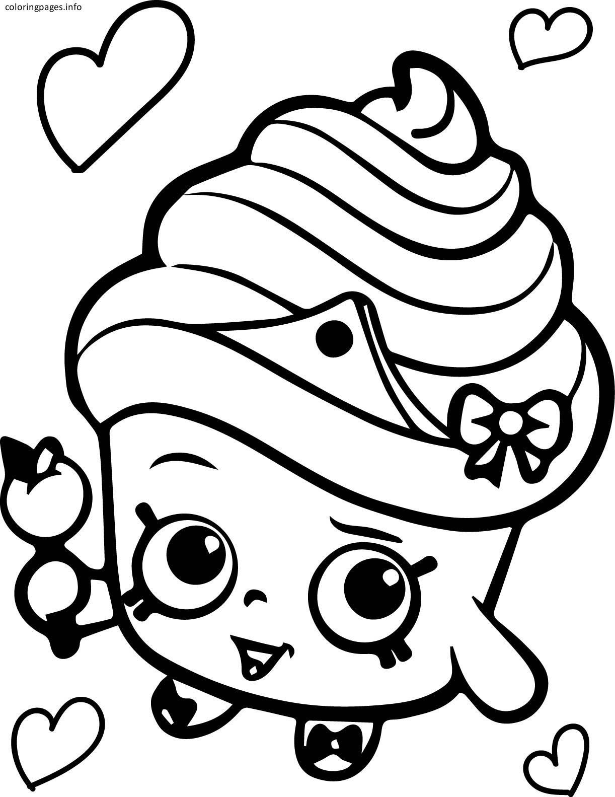 Shopkins Coloring Pages Cupcake Queen At Getdrawingscom Free For