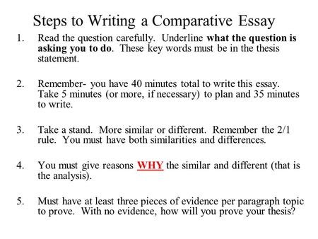 How to Write an Effective Thesis for a Comparative Essay - blogger.com