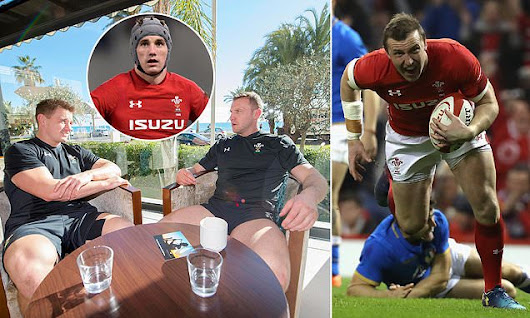 Meet the Welsh Odd Couple: Jonathan Davies and Hadleigh Parkes | Daily Mail Online