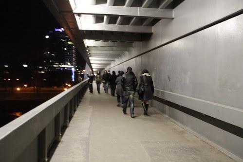 Crossing the Novy most bridge 2