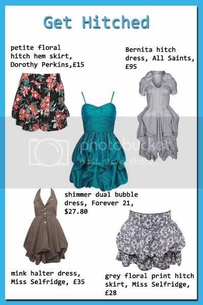 hitched gathered hemlines