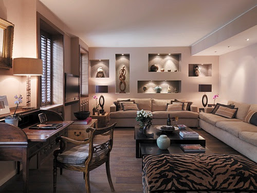 African Safari Living Room Ideas - Interior design