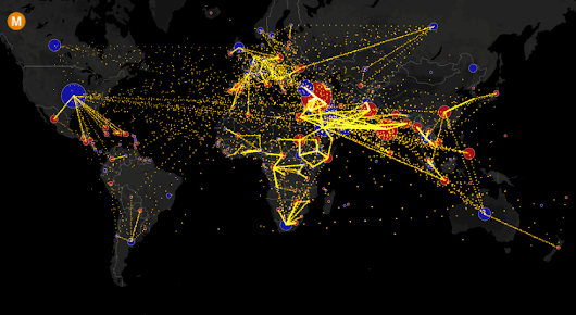 All the World's Immigration Visualized in 1 Map - Metrocosm