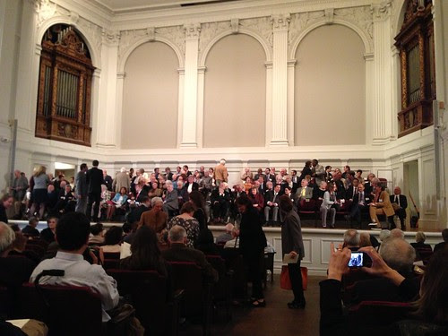 People assembling, American Academy of Arts and Letters Ceremonial