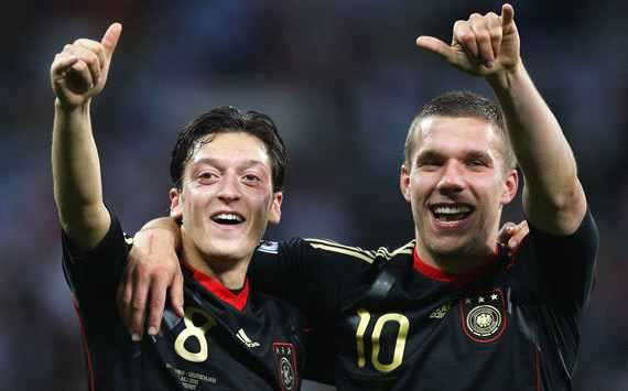 Mezut Ozil, Lukas Podolski, Germany, Argentina  (Getty Images)