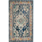 "Safavieh Monaco MNC243N-4 4' x 5'7"" Navy/Light Blue Area Rug"