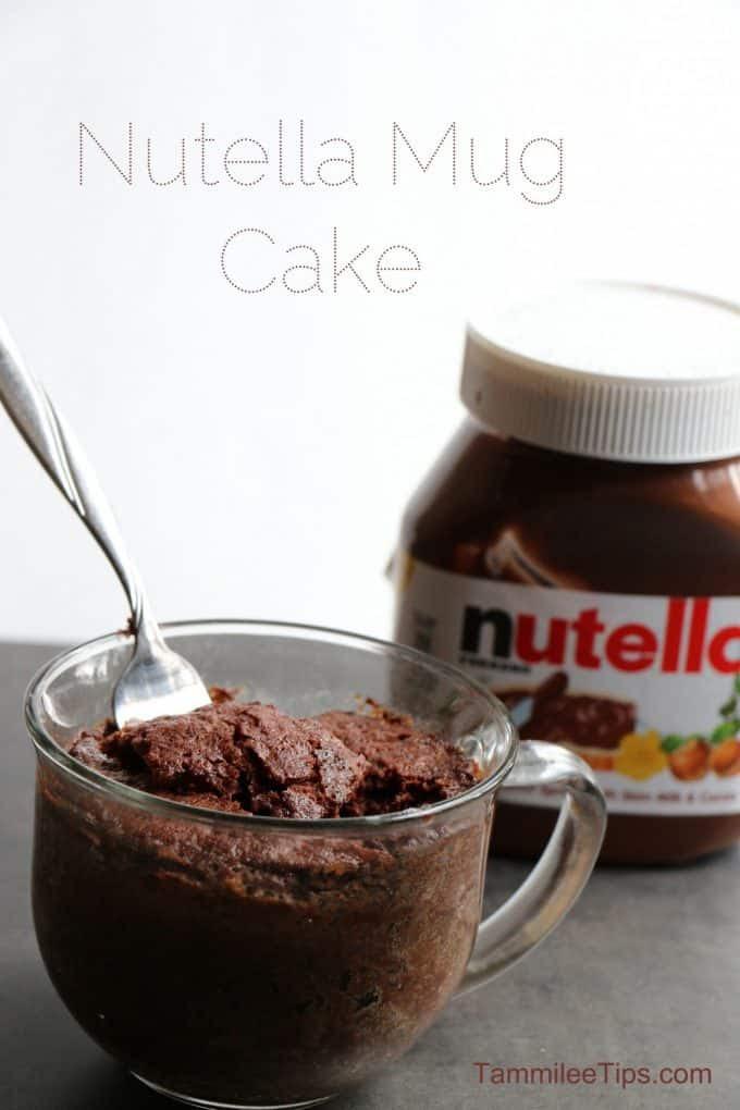 Super easy to make Nutella Mug Cake Recipe
