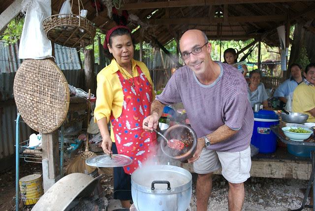 Robert Danhi-making Tom Yum in Thailand